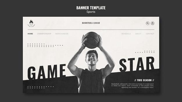 Modelo de página de destino de anúncio de basquete