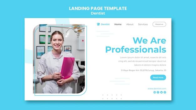 Modelo de página de destino de anúncio de dentista