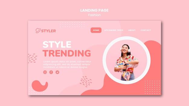 Modelo de página de destino de anúncio de moda