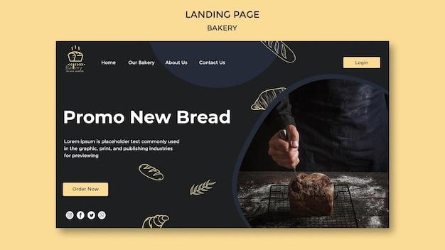 Modelo de página de destino de anúncio de padaria