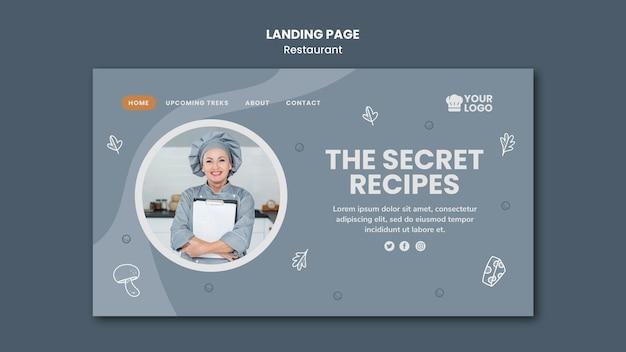 Modelo de página de destino de anúncio de restaurante