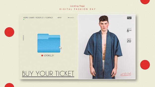 Modelo de página de destino de anúncio do fashion day