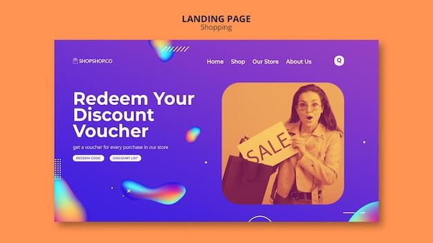Modelo de página de destino de anúncio do shopping