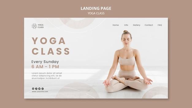 Modelo de página de destino de aula de ioga