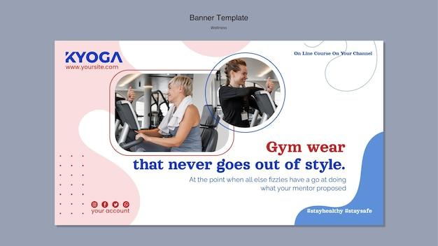 Modelo de página de destino de bem-estar de fitness