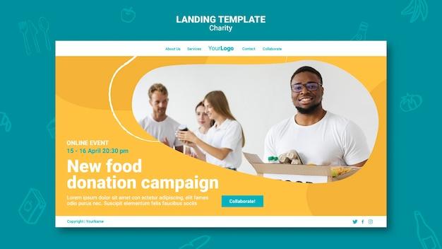 Modelo de página de destino de caridade