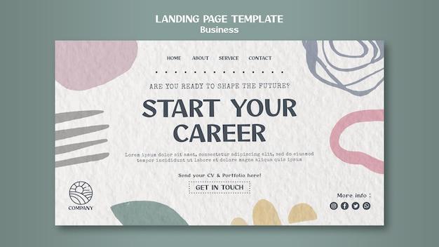 Modelo de página de destino de carreira de designer