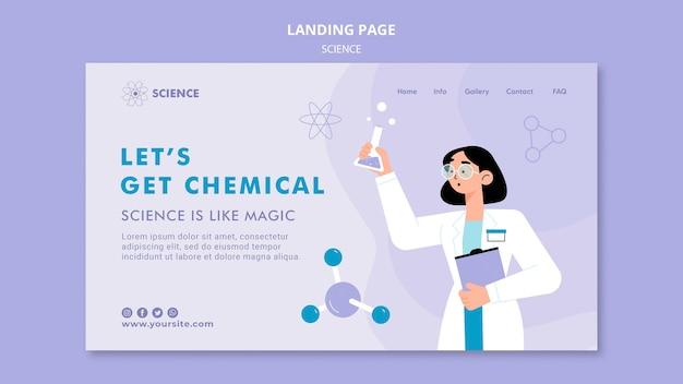 Modelo de página de destino de ciências