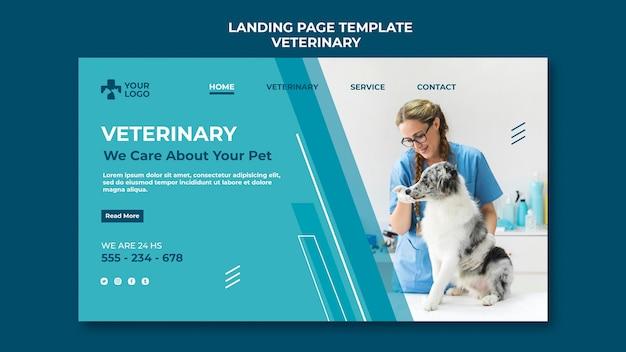 Modelo de página de destino de clínica veterinária