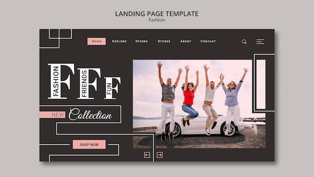 Modelo de página de destino de coleção de moda