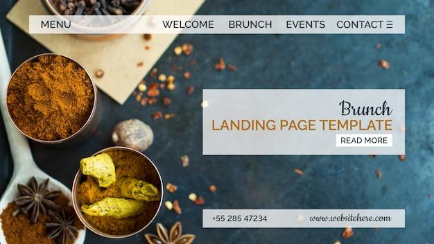 Modelo de página de destino de comida indiana