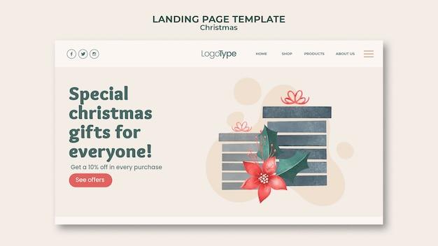 Modelo de página de destino de compras de natal online