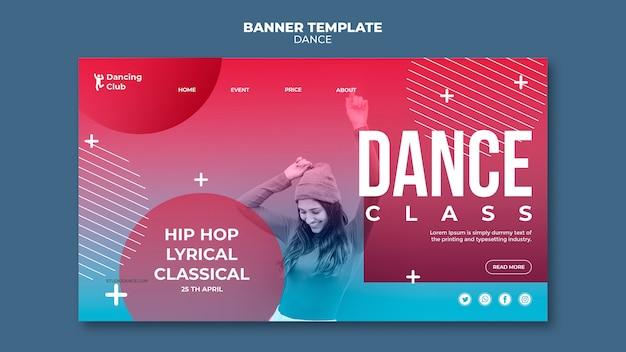 Modelo de página de destino de dança colorida