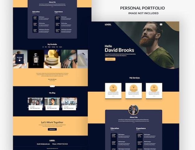 Modelo de página de destino de designer freelancer