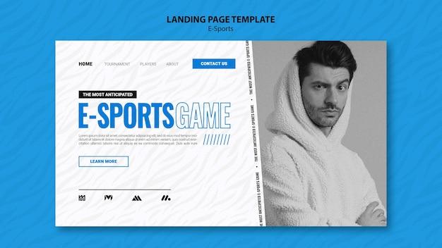 Modelo de página de destino de e-sports
