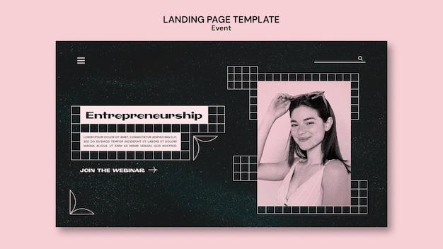 Modelo de página de destino de evento de negócios