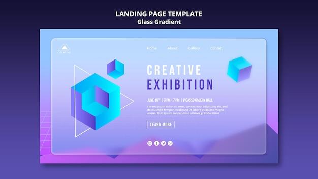 Modelo de página de destino de exibição criativa