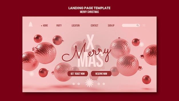 Modelo de página de destino de feliz natal