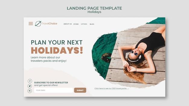 Modelo de página de destino de feriados