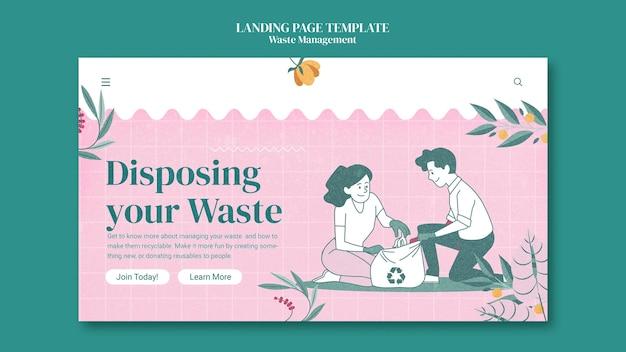 Modelo de página de destino de gerenciamento de resíduos