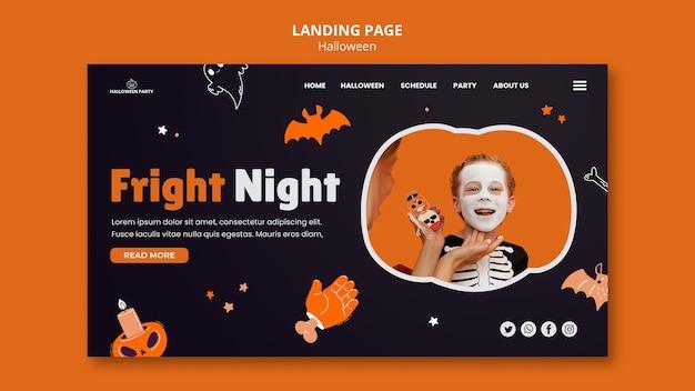 Modelo de página de destino de halloween