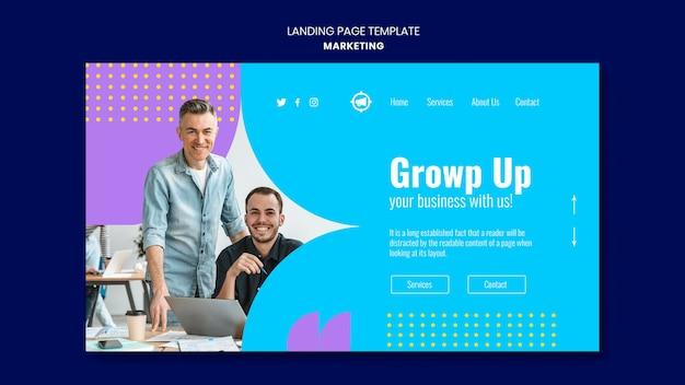 Modelo de página de destino de marketing
