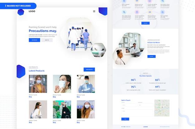 Modelo de página de destino de negócios on-line