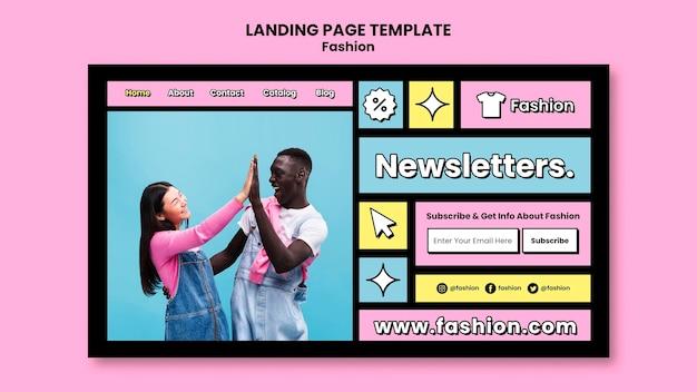 Modelo de página de destino de novas chegadas
