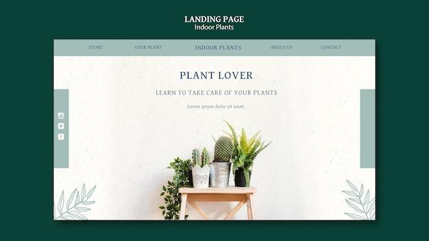 Modelo de página de destino de plantas de interior