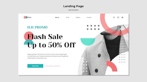 Modelo de página de destino de promoção de venda
