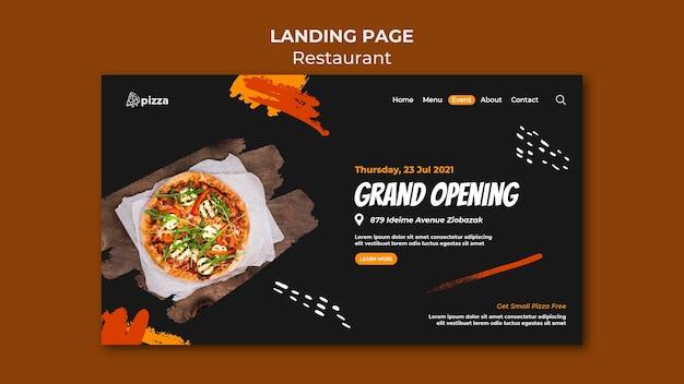 Modelo de página de destino de restaurante de comida italiana