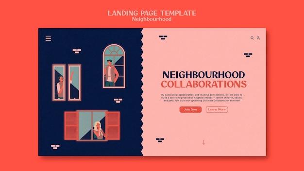 Modelo de página de destino de seminário de bairro