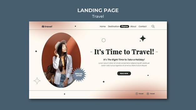 Modelo de página de destino de tempo de viagem