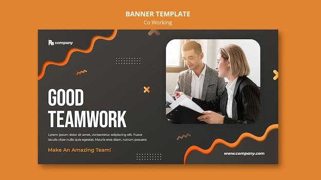 Modelo de página de destino de trabalho conjunto criativo