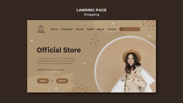 Modelo de página de destino de venda na loja