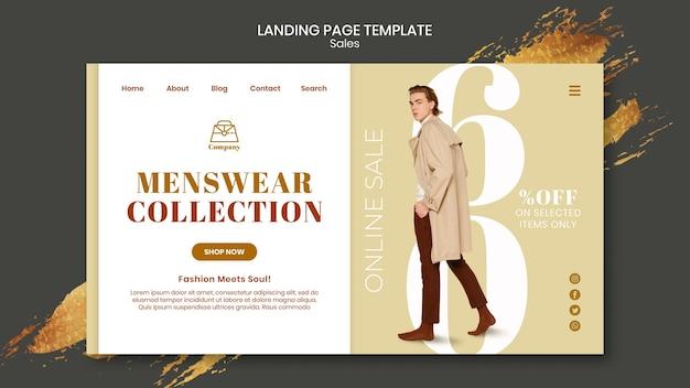 Modelo de página de destino de vendas de moda