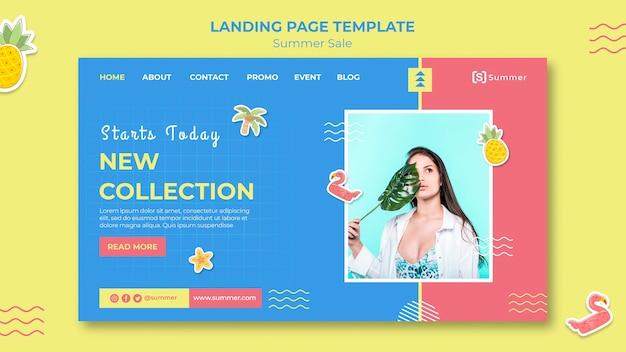 Modelo de página de destino de vendas de verão