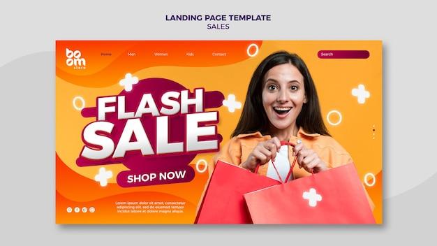 Modelo de página de destino de vendas moderno