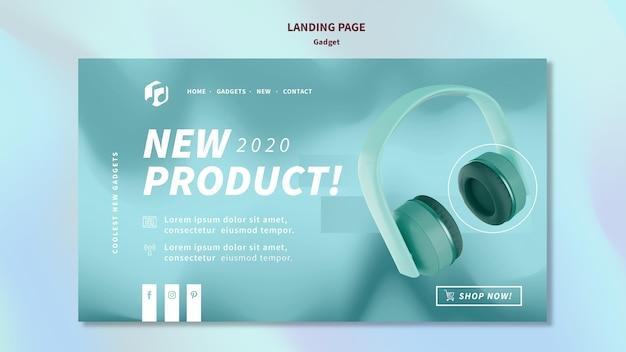 Modelo de página de destino do conceito de gadget