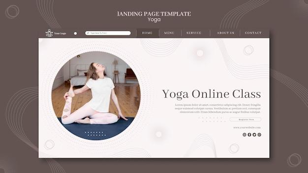 Modelo de página de destino do conceito de ioga