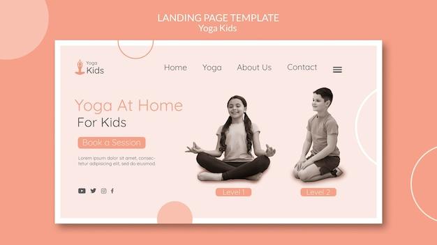 Modelo de página de destino do conceito de ioga Psd Premium