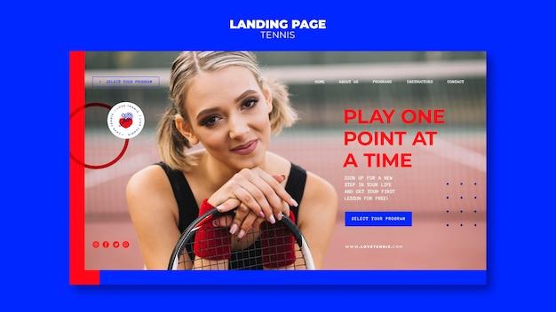 Modelo de página de destino do conceito de tênis