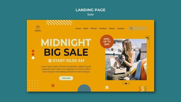 Modelo de página de destino do conceito de venda Psd Premium