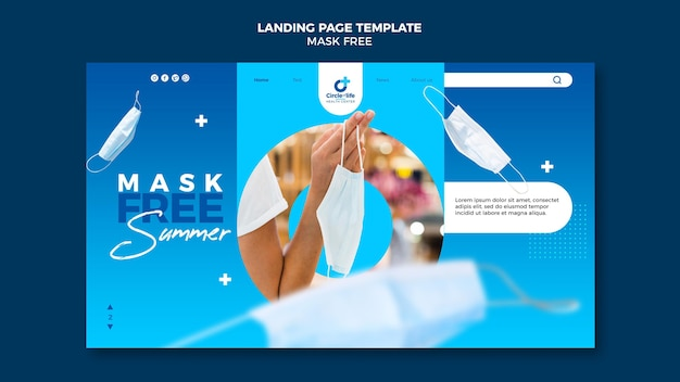 Modelo de página de destino livre de máscara