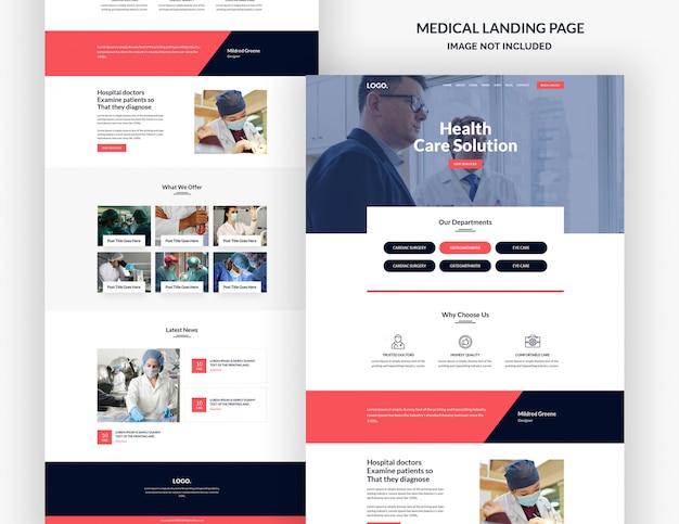 Modelo de página de destino médica