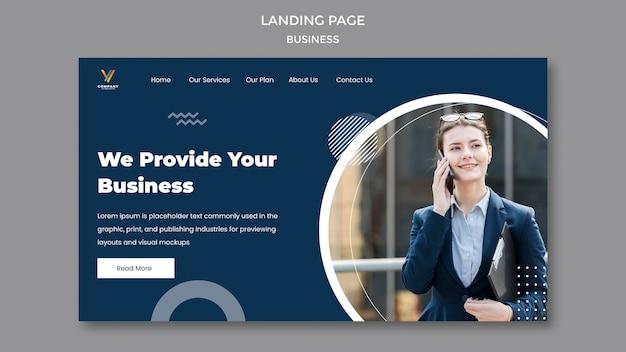 Modelo de página de destino para agência de marketing digital