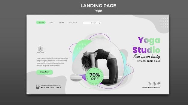 Modelo de página de destino para aulas de ioga
