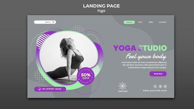 Modelo de página de destino para aulas de ioga Psd grátis