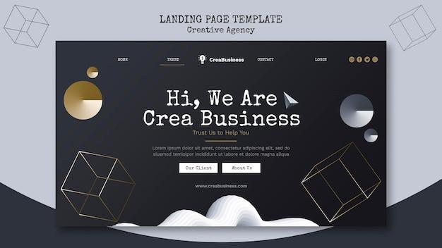 Modelo de página de destino para empresa parceira de negócios