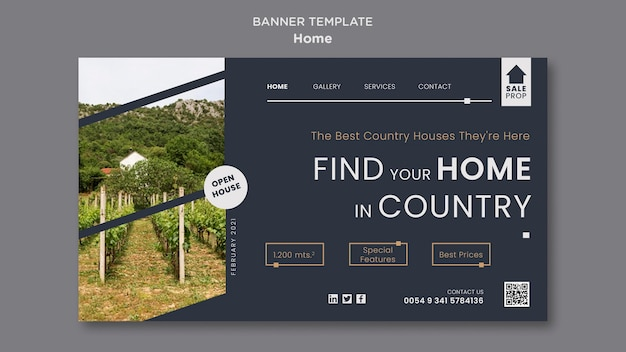 Modelo de página de destino para encontrar a casa perfeita